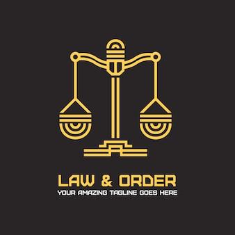 Projeto do logotipo do advogado