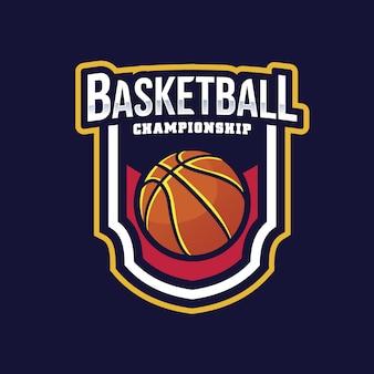 Projeto do logotipo do basquetebol