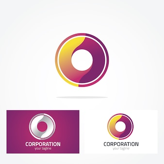 Projeto do logotipo do círculo