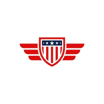 Projeto do logotipo do emblema do escudo americano