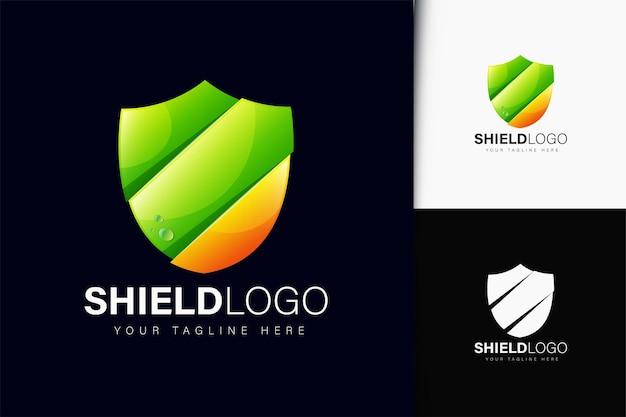 Projeto do logotipo do escudo com gradiente
