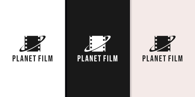 Projeto do logotipo do filme planet
