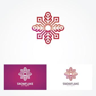 Projeto do logotipo do floco de neve