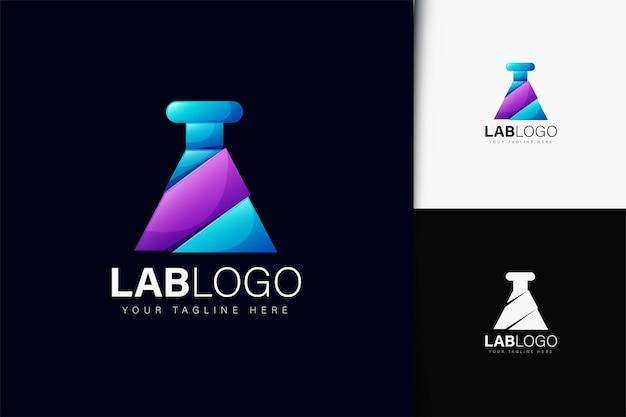Projeto do logotipo do laboratório com gradiente