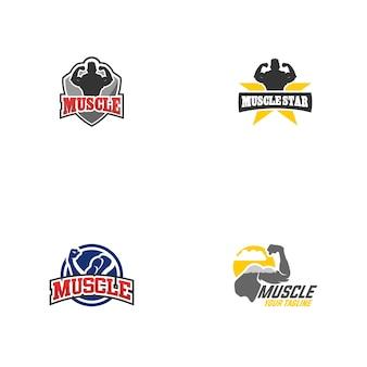 Projeto do logotipo do músculo