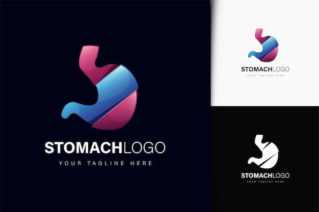 Projeto do logotipo do órgão do estômago com gradiente