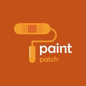 Projeto do logotipo do patch de pintura