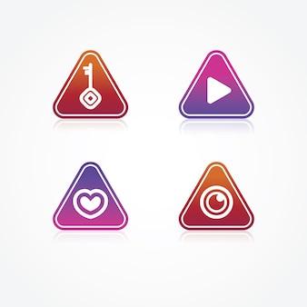 Projeto do logotipo do triângulo