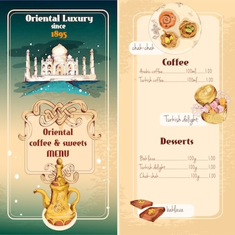 Projeto do menu oriental