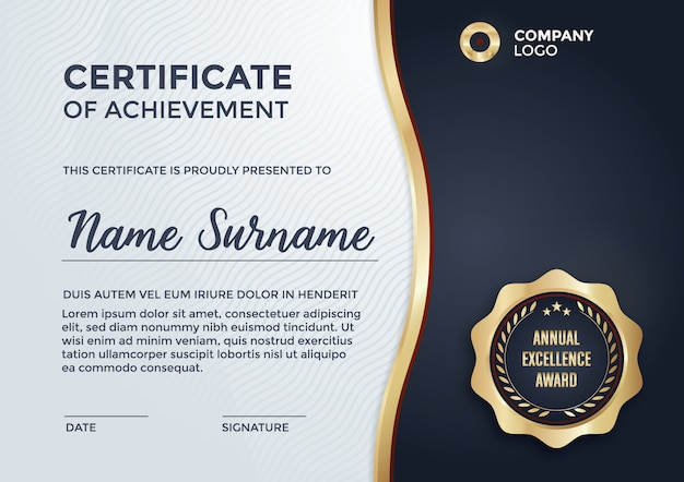 Projeto do molde do certificado