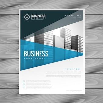 Projeto do molde do folheto de apresentação do negócio