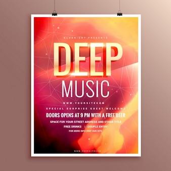 Projeto do molde do folheto poster insecto da música para o seu evento