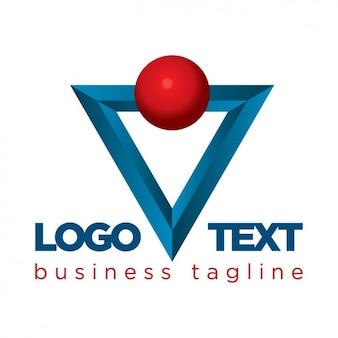 Projeto do molde do logotipo corporativo