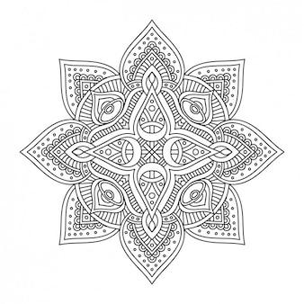 Projeto do ornamento do estilo boho