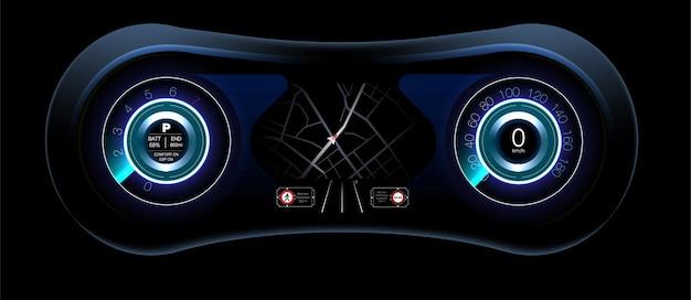 Projeto do painel de controle o sistema de travagem automática evita acidentes de carro