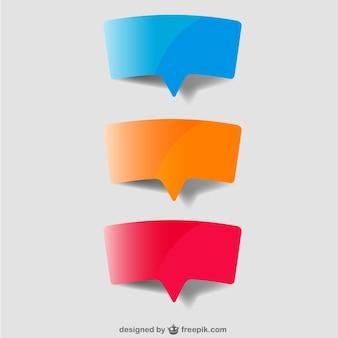 Projeto do papel da bolha do discurso
