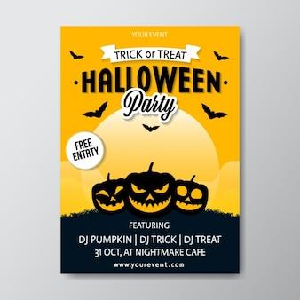 Projeto do partido do dia das bruxas poster