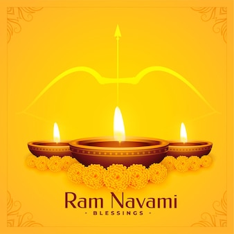 Projeto do plano de fundo das bênçãos do shree ram navami