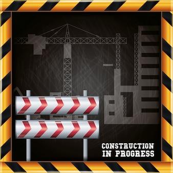 Projeto do progresso da construção