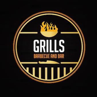 Projeto do restaurante logotipo