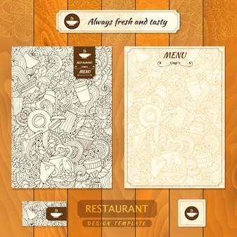 Projeto do restaurante modelo de menu