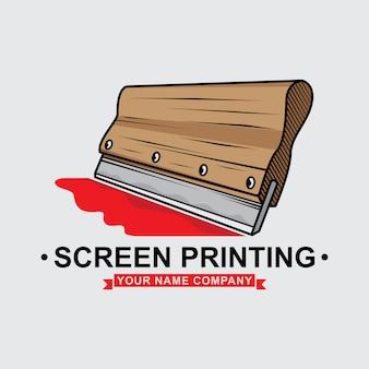 Projeto do rodo da impressão da tela do logotipo