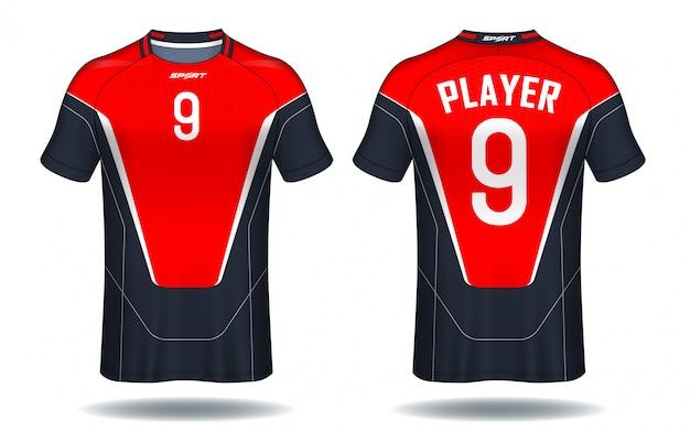 Projeto do t-shirt do esporte do jérsei de futebol.