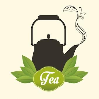 Projeto do tempo do chá