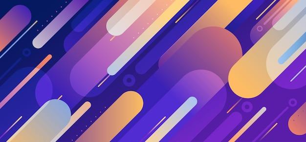 Projeto do teste padrão geométrico abstrato com modelo de design colorido. sobreposição com fundo multi projetado e combinação de contraste. ilustração vetorial