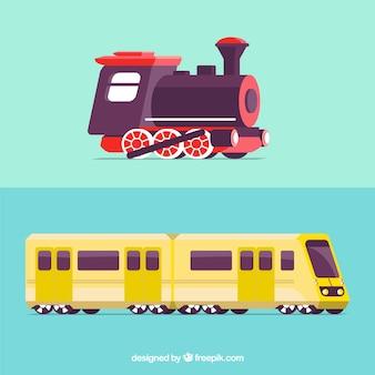 Projeto do trem velho e moderno