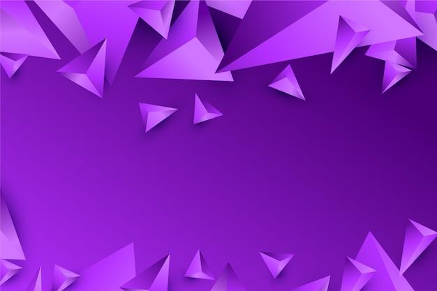 Projeto do triângulo 3d de fundo em tons violetas vívidos