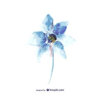 Projeto do vetor da flor da aguarela