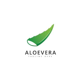 Projeto do vetor da gota do logotipo da planta de aloe vera. ícone do logotipo do gel de aloe vera