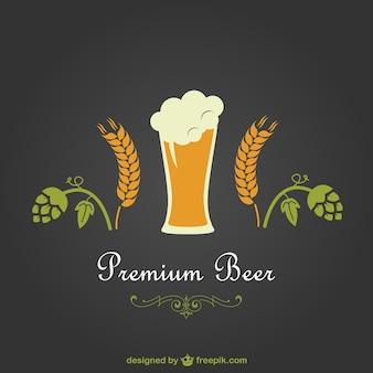 Projeto do vetor de cerveja premium