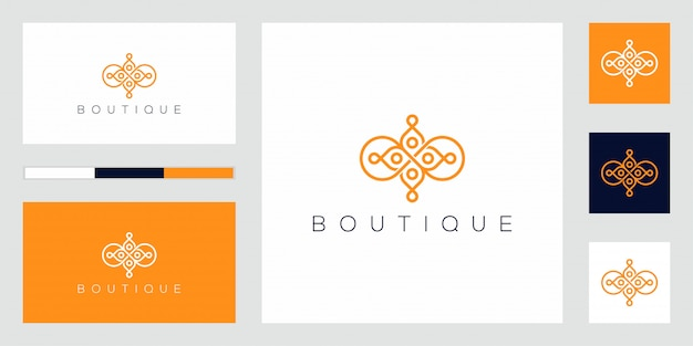 Projeto do vetor do ícone do logotipo da flor abstrata.