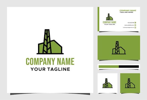 Projeto do vetor do logotipo e do cartão de visita da eco factory