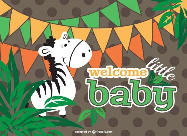 Projeto dos desenhos animados cartão do bebê