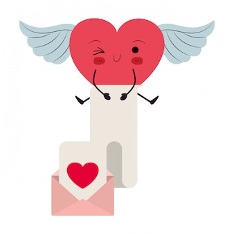 Projeto dos desenhos animados do coração, feliz dia dos namorados amor paixão saúde romântica casamento romance e decoração tema ilustração vetorial