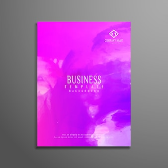 Projeto elegante de folheto empresarial de aquarela