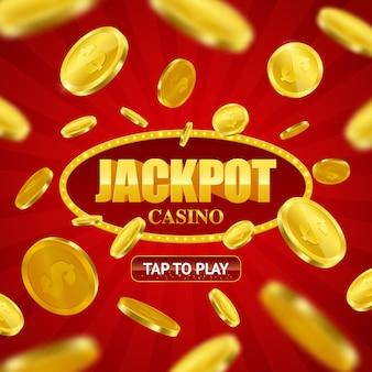 Projeto em linha do fundo do casino do jackpot