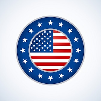 Projeto emblema bandeira americana