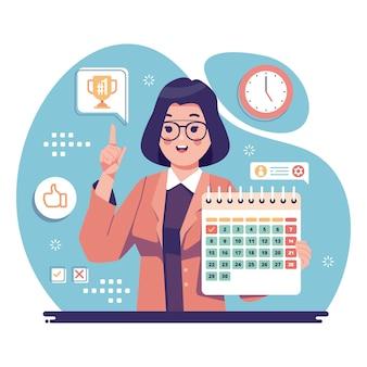 Projeto empregado do mês ilustrado