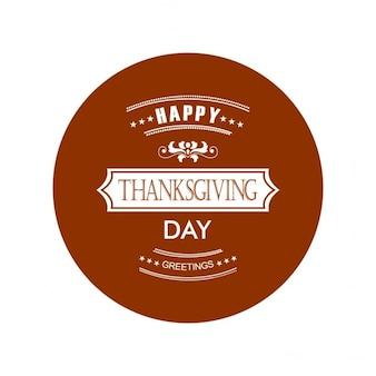 Projeto feliz rótulo dia de ação de graças