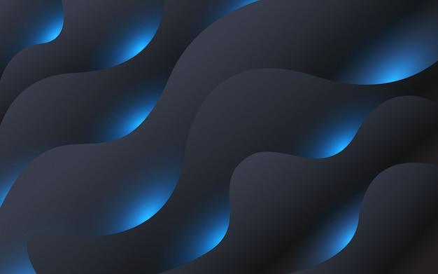 Projeto geométrico colorido do fundo composição de formas fluidas com gradientes da moda.