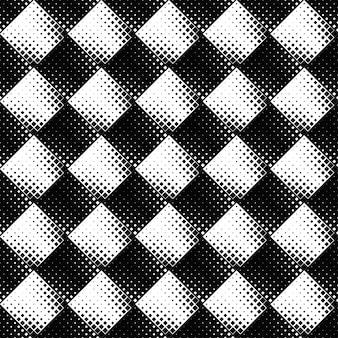 Projeto geométrico quadrado monocromático diagonal sem costura padrão