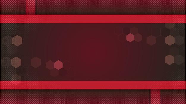 Projeto gradiente de fundo vermelho abstrato com composição geométrica. padrão mínimo futurista