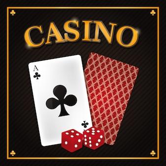 Projeto gráfico da ilustração do vetor do conceito do jogo de pôquer