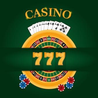 Projeto gráfico da ilustração do vetor do conceito do jogo do lazer da roleta do casino