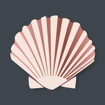 Projeto gráfico de vectot illstration do seashell