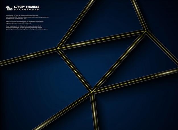 Projeto gráfico do teste padrão luxuoso abstrato do fundo do preto do inclinação.